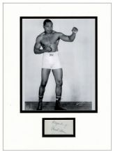 Archie Moore Autograph Display